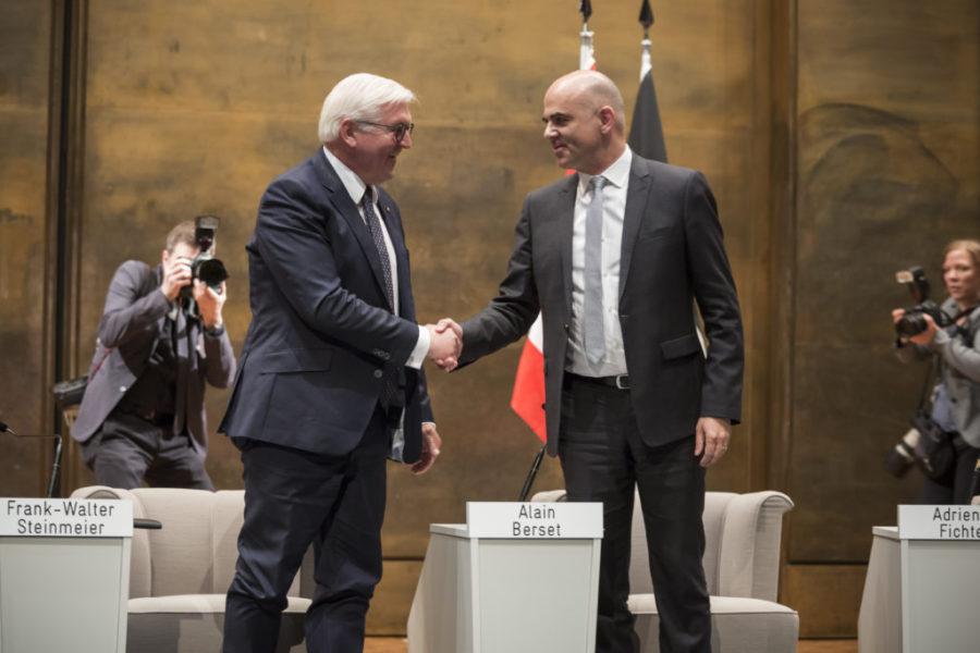 Visite officielle de Monsieur Frank-Walter Steinmeier, le président allemand, à l'Université de Fribourg, sur invitation de Monsieur Alain Berset.